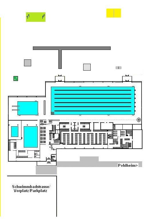 Lageplan / Wegweiser Hallenbad Pohlheim